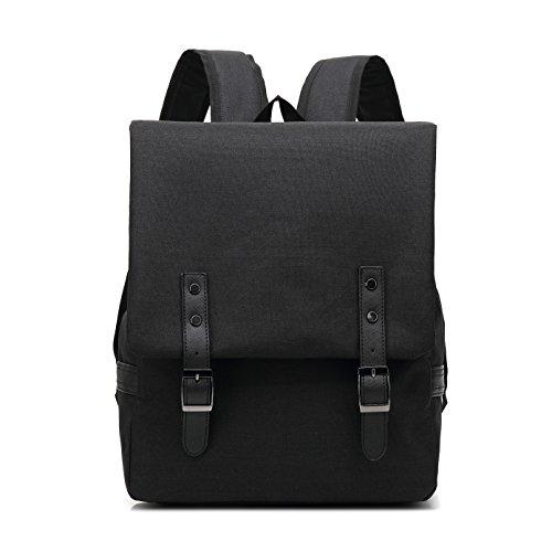 029# 15 Inch Laptop Bag Business Case Classic Daypack Bookbag Travel Backpack School Bag Rucksack (Black)
