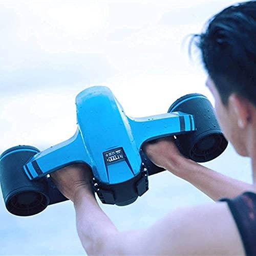 Scooter submarino, robot sin tristes Explorador Sumergible impermeable eléctrico a prueba de agua Propulsor de doble velocidad Buceo Booster Pool Toys Natación Niños Recargable Paseos ( Color : Blue )