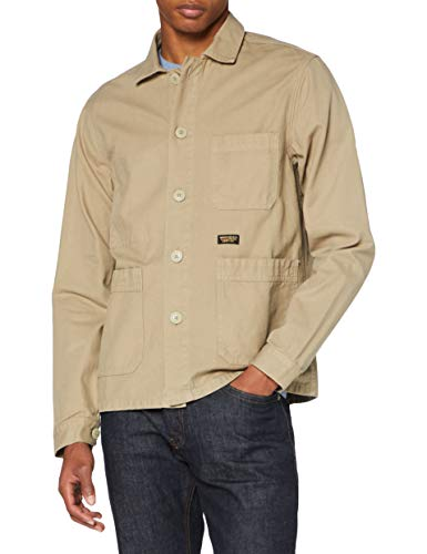 Superdry Herren UTL Worker Jacket Jacke, Beige (Army Sand S0L), Medium
