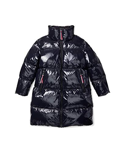 Tommy Hilfiger Damen ADP EU HIGH GLOSS DOWN PUFFER COAT Daunenmantel, Desert Sky, X-Small
