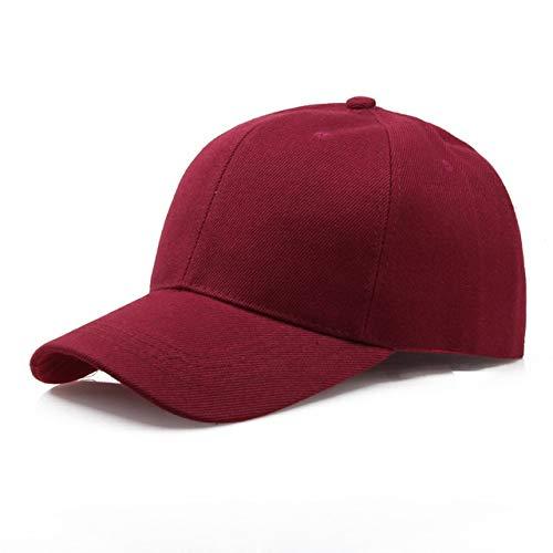 Gorra Negra Gorra de béisbol de Color sólido Gorras Snapback Casquette Sombreros Ajustados Gorras Casuales Hip Hop Sombreros de papá para Hombres Mujeres Unisex-Wine