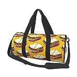 Bolsa de viaje con estampado de sándwich de jamón, para hombres, mujeres, para deportes, gimnasios y escapada de fin de semana