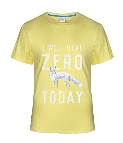 Fatal Decision Men's I Will Give Zero Fox Today Hobby Tshirt lightYellow