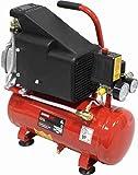 Mader Power Tools 37134 Compresor de Aire Monobloco Monofásico, 6L, Portable, con Aceite