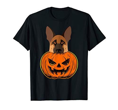German Shepherd Halloween Pumpkin Carving Police Canine Dog T-Shirt