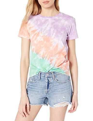 The Drop Women's Courtney Short-Sleeve Tiny Crewneck Jersey T-Shirt, Violet Tie Dye, S