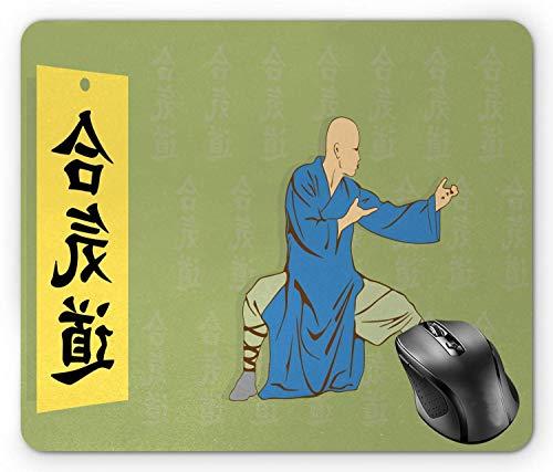 Kung Fu Mouse Pad, Mann in ethnischer...