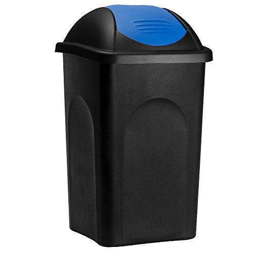 Stefanplast Cubo de basura de 60L con tapa extraíble basurero para cocina Plástico Polipropileno 68x41x41cm fácil de limpiar