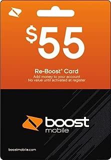 Boost Mobile $55.00 Reboost Refill Prepaid Card