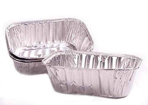 Chef Grade, Extra Thick 6×4 Foil Loaf Pans 25 Pack. Best Disposable, Bakeable 1Lb Aluminum Tin Pan for Baking Bread, Small Meat Loaf or Lemon Bundt Cake for Holiday Gifts, Bake Sales or Fundraisers
