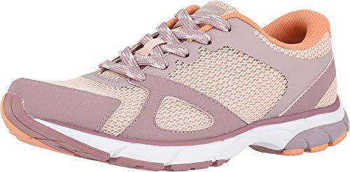 Vionic Women's Drift Tokyo Leisure Sneakers - Supportive Walking Shoes with Concealed Orthotic Arch Support Blush 9.5 Medium US