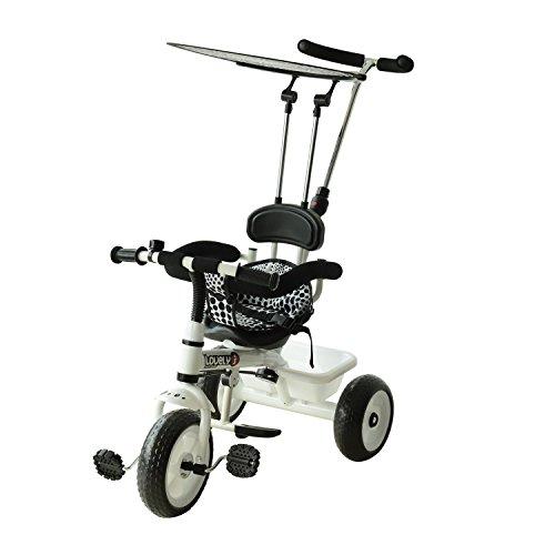 Triciclo para Niños con Capota extraíble y plegable Incluy