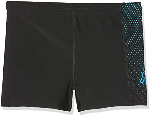 Speedo Jungen Gala Logo Panel Aquashorts Gala Logo Panel, Black/Windsor Blue, 152 (Herstellergröße: 30)