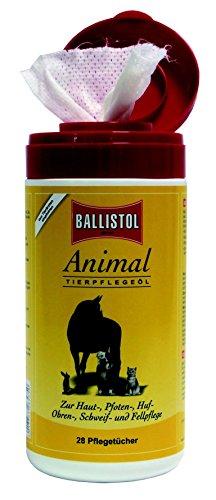 2 x Spenderbox je 28 Stück Einwegtücher Ballistol Animal Pflegeöl für alle Vierbeiner