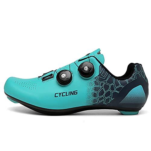 Zapatillas de Ciclismo para Hombre Zapatillas de Bicicleta de Carretera para Mujer compatibles con Look SPD SPD-SL Delta Cleats Zapatillas de Spinning para Interiores Exteriores