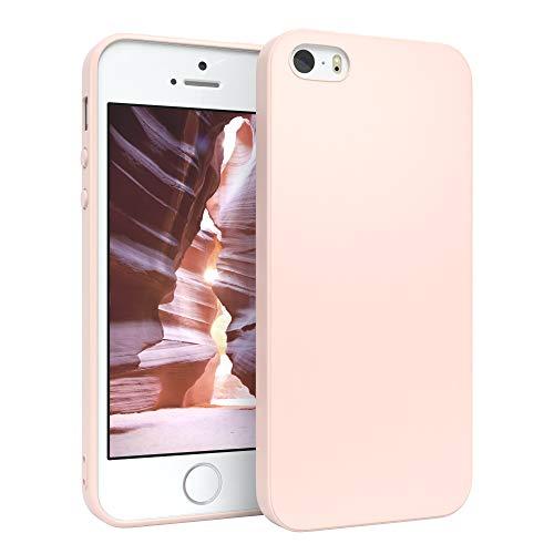 EAZY CASE Handyhülle Silikon mit Kameraschutz für Apple iPhone SE / 5 / 5S in Hellrosa, Rosa, Ultra dünn, Slimcover, Silikonhülle, Hülle, Softcase, Backcover