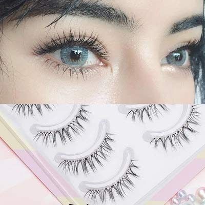 False Eyelashes Naturally Simulated Thick Transparent Stem Fake Eyelashes Glimmer Beginner Makeup Tools Lashes