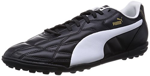 Puma Classico TT, Botas de fútbol para Hombre, Negro-Schwarz (Black-White Gold 01), 41