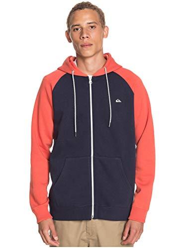 Quiksilver Herren Everyday - Kapuzenpulli mit Reißverschluss für Männer Sweatshirt, Navy Blazer, XXL