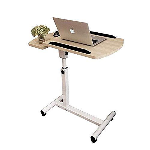 Productos para el hogar Escritorio de computadora Aprendizaje de la cama con elevación del hogar, mesa de noche móvil plegable, carrito de escritorio portátil simple para computadora portátil con s