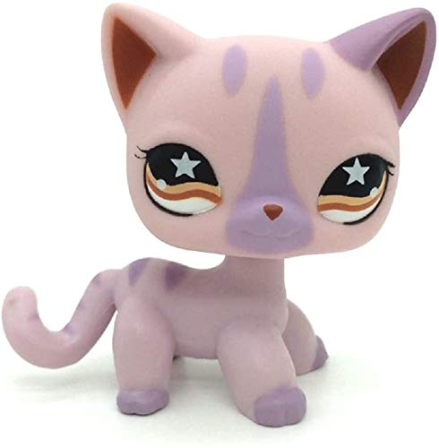 Greneric LPS Toy Rare Light Purple Siamese Short Hair Kitty Cat LPSs Littlest Pet Shop