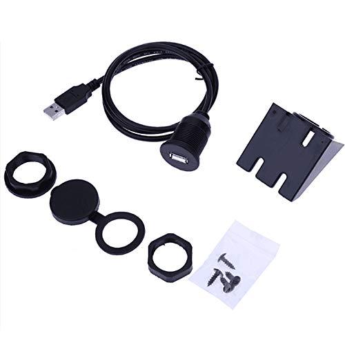 elegantstunning Câble d'extension USB 3.0 mâle vers USB 3.0 femelle auxiliaire pour montage encastré de voiture, camion, bateau, moto, tableau de bord