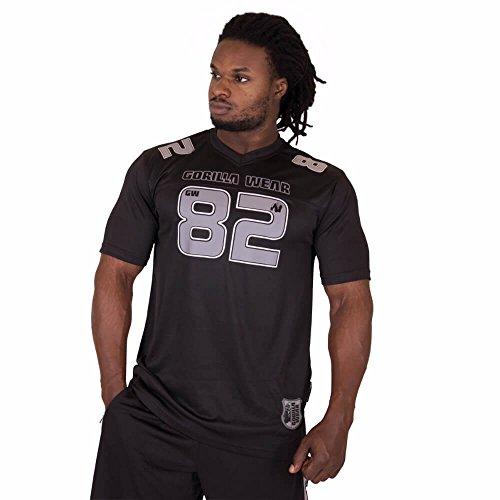 GORILLA WEAR Herren Top - Fresno T-Shirt - Kleidung Shirts Rag Muskelshirt Oldschool XXL Black/Gray
