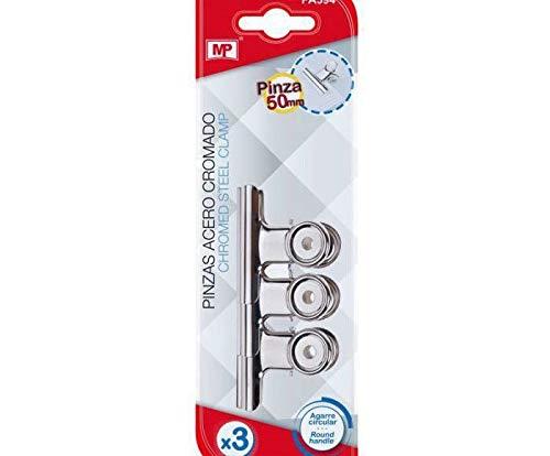 Spring Clip Silver 5x4cm (3pcs), Madrid Papel Import S.l, Office Supplies, Creativity School