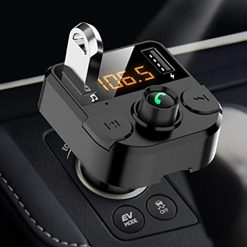 Fandazzie Coche Bluetooth inalámbrico 3.1A Cargador USB Reproductor de MP3 Manos Libres Transmisor FM Bases de Carga
