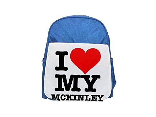 Fotomax I Love My Mckinley - Mochila Infantil con Estampado Azul, Mochilas Lindas, Mochilas Pequeñas, Mochila Negra, Mochila Negra, Mochilas de Moda, Grandes Mochilas de Moda, Mochila Negra de Moda