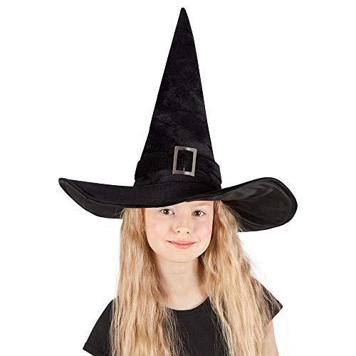 Boland 00157 - Sombrero de Bruja Para Niños, Kendra, Negro, 52-54 , color/modelo surtido