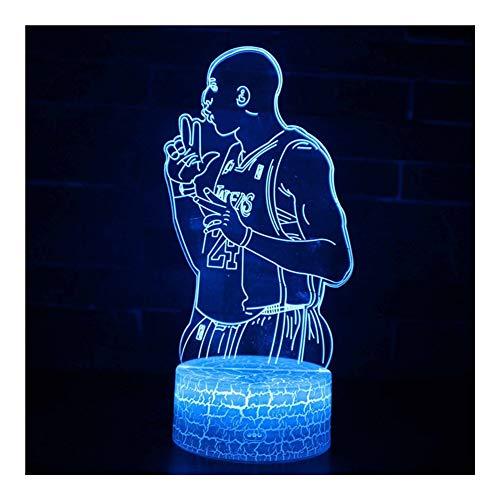 JISHIYU-Q 3D Baloncesto luz de la noche, Deportes Night Ligh