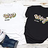 Wife & Wifey Est 2021 Lesbian Pride T Shirt, Lesbian Wife Gift, Lgbtq Anniversaryt Shirt
