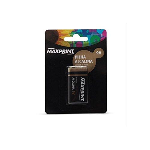 Pilha Alcalina Maxprint 9V Maxprint c/ 1