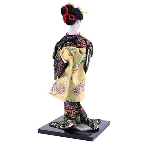 Wakauto Japanese Geisha Kimono Doll 12 Inches Asian Kimono Doll Collectible Figurine Statue Desktop Ornament Gift for Home Office Table Decoration Style D