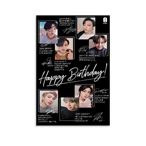 K-POP BTS JIMIN Nam-joon Kim Seok Jin Min Yoon Gi Jeon Jung Kook J-Hope Kim Tae Hyung 6 poster su tela e stampa artistica da parete, 60 x 90 cm
