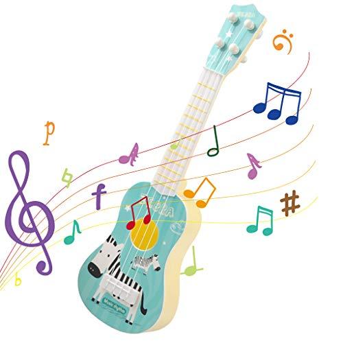 Baipin Guitarra para Niños, Guitarra de Juguete, 4 Cuerdas, Juguete Lindo del Instrumento para el Juego Temprano de la Educación del Bebé Niño y Niña