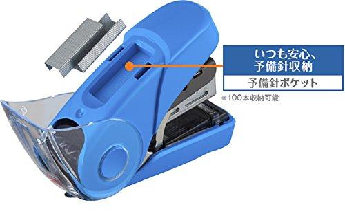 マックスホッチキスサクリフラット32枚とじ予備針100本収納ピンクHD-10FL3K/P