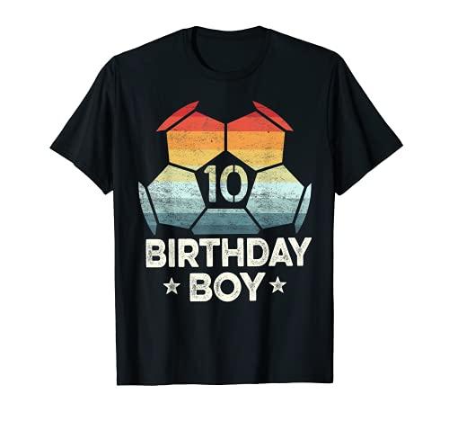 10 años de edad jugador de fútbol regalos 10 cumpleaños niño décimo día Camiseta
