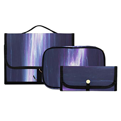 Bolsas de cosméticos para Mujeres de Viaje, Azul, Morado, relámpago, eléctrico, Abstracto,...