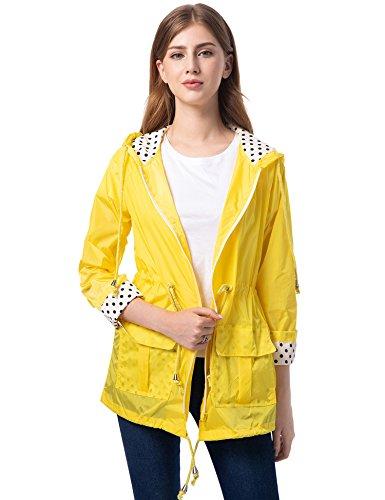 Chubasquero amarillo mujer impermeable
