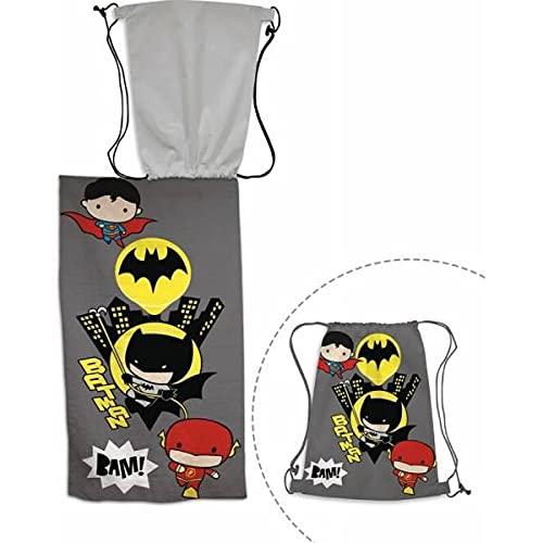 Drap de Bain Batman avec Sac de Piscine / Serviette de Plage 70 x 140 cm