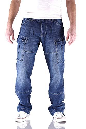 Big Seven Brian Night Blue Cargo Herren Jeans, Hosengröße:W31/L32