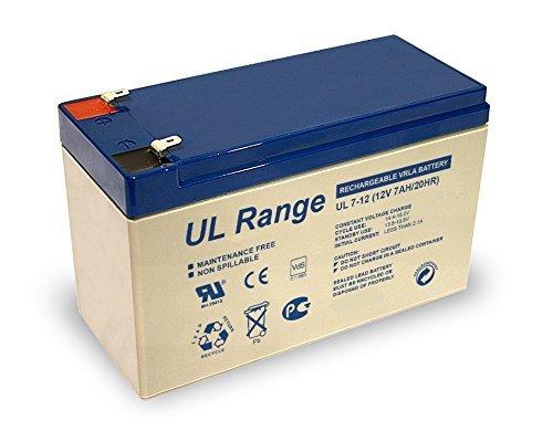 2X Ultracell UL7-12 PB 4,8mm Faston 187 Blei Bleigel Vlies Akku 12 Volt 12V 7,0Ah 7000mAh AGM Technik VDs Zulassung