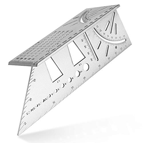 CHANGE ONE 木工定規 大工ツール diy定規 けがき アルミ合金製 シルバー