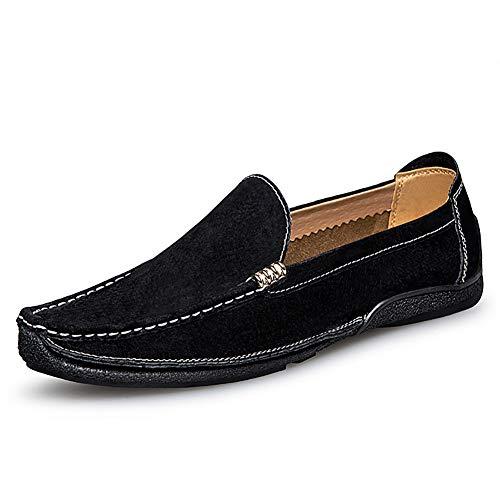 GPF-fei Herenschoen Loafers Schoenen Bootschoen Doek Schoenen Canvas Ronde teen schoen Mode Mode Zacht Ademend Vrije tijd Lichtgewicht, Zwart, 44
