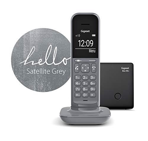 Gigaset CL390A schnurloses Design-Telefon mit Anrufbeantworter (DECT Telefon mit Freisprechfunktion, großem Grafik Display, leicht zu bedienen mit intuitiver Menüführung) satellite grey