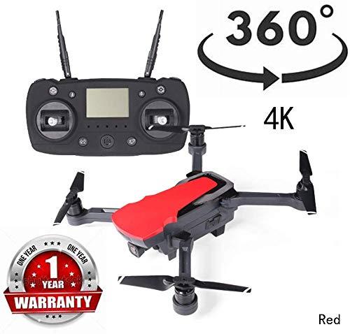 ZGYQGOO Vidéo HD en Direct et GPS, Distance contrôle, avec Batterie intégrée, mosans tête Longue portée, caméra HD WiFi 2,4 GHz 1080P, Drone avec caméra pour Adultes, Rouge