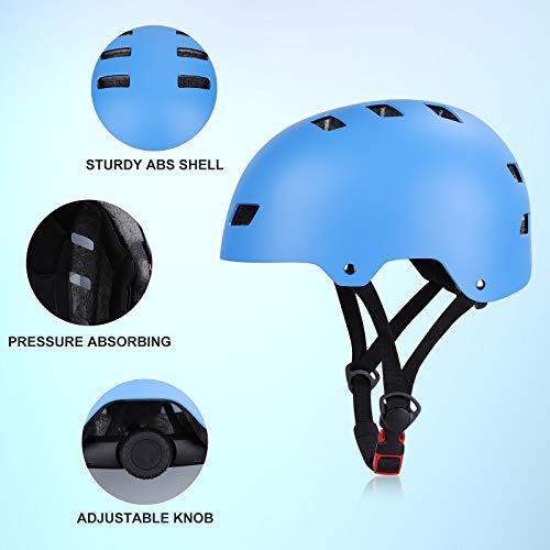 SKL Kids Protective Gear Set Age 6-13,Toddlers Skateboard Helmet,7 in 1 Adjustable Bike Helmets Knee Pads and Elbow Pads for Children BMX Skateboard Scooter Cycling