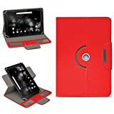 NAmobile Archos 101 Platinum 3G Tasche Hülle Schutzhülle Tablet 360° Drehbar Case Cover, Farben:Rot